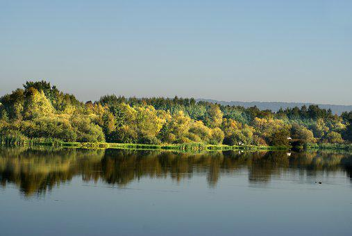 Island, Lake, Water, Landscape, Sky, Figure, Nature