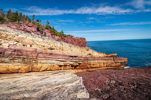 Kings Cove, Canada, Newfoundland, Landscape, Cliff