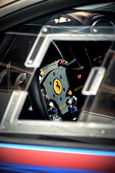 Racing Car, Motorsport, Steering Wheel, Ferrari