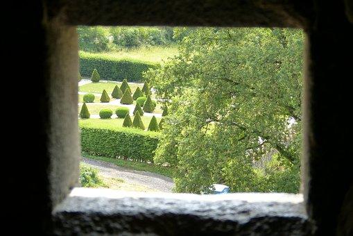 Castle, Mosel, Peephole, Schlossgarten, Germany