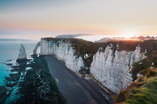 Etretat, France, Normandy, Sea, Landscape, Beach