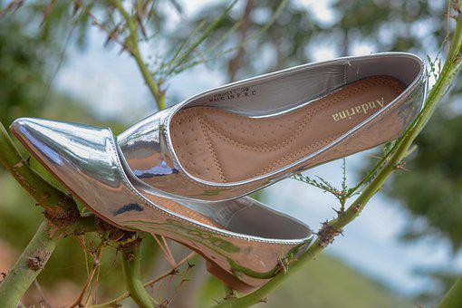 Bride, Shoes, Wedding, Woman