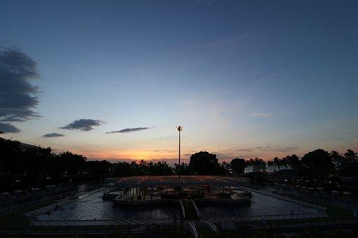 Sunset, Pattaya, Sky, Thailand, Sea, Asia, Beach