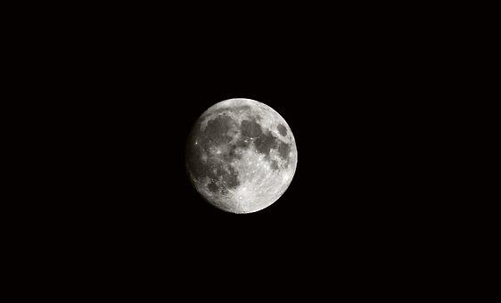 Moon, Lune, Black, Space, World, Sun, Planet, Globe
