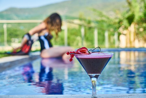 Cocktail, The Drink, Beverage, Fruit, Strawberry, Pool
