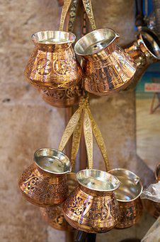 Coffee Pot, Coffee, Traditional, Copper, The Drink, Tea