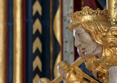 York, Gilding, Tomb, Gold, Statue, Carving