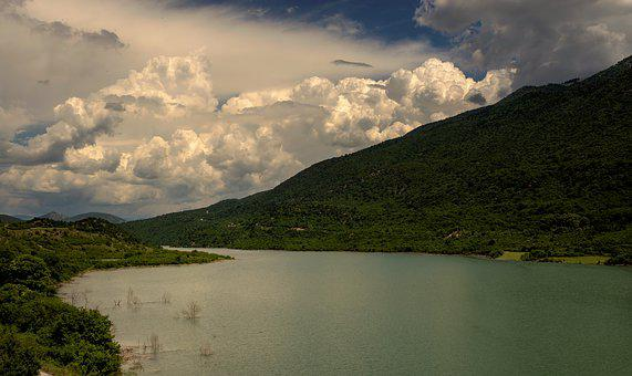 Lake, Water, Nature, Landscape, Waters, Sky, Blue