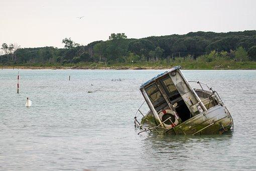 Ship, Water, Frack, Sea, Boat, Summer, Landscape
