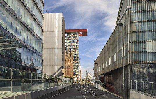 Architecture, Düsseldorf, Modern, Building, City, Urban