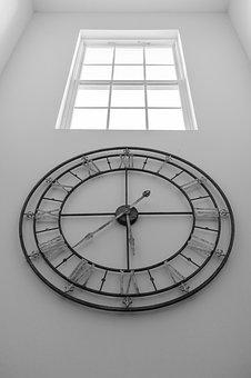 Blackandwhite, Clock, Watch, Antique, Time, Hours