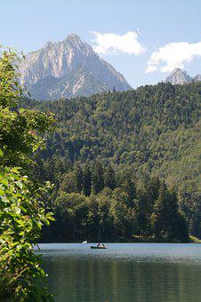 Panorama, Mountain, Lake, Forest, Outlook, View, Boat