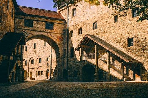 Castle, Middle Ages, Burghof, Hof, Fortress, Old