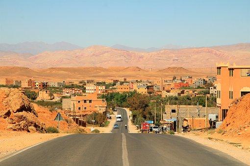 Road, Desert City, Desert, Landscape, Sand, Nature, Dry