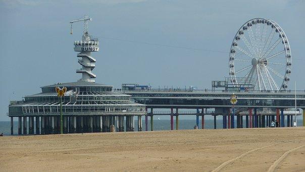 Scheveningen, Holland, Beach, Water, Entertainment