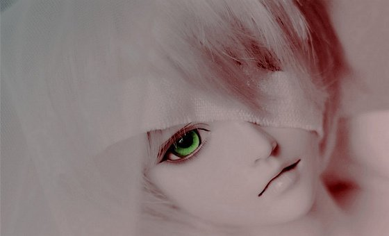 Blindfold, Doll, Green, Eyes, Blank, Figure, Face