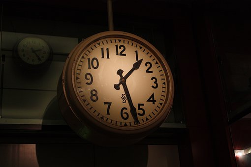 Clock, Time, Dial, Hours, Station Clock