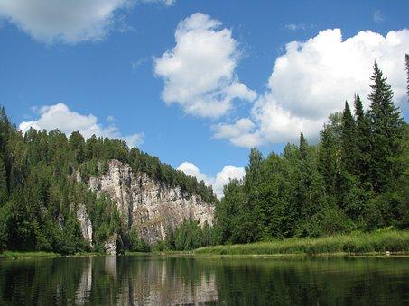 Landscape, River, Nature, The Picturesque, Clouds