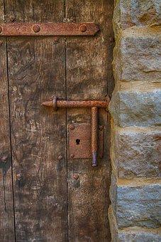 Door, Lock, Old, Rust, Metal, Entry, Latch, Wood