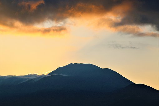 Dawn, Mountain, Russet, Sky, Clouds, Morning, Solar