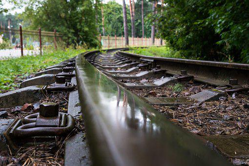 Narrow Gauge Railroad, Rails, Rain, Railways, Track