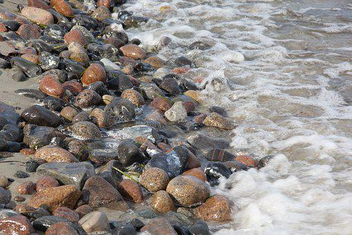Stones, Beach, Sea, Water, Nature, Wave, Coast, Summer