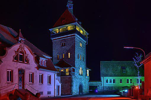 Horny Weilerhof, Palatinate, Night, Places Of Interest