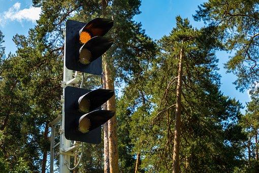Railway, Traffic, Yellow, Traffic Signal, Signal Light