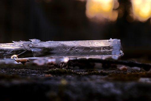 Ice, Sunset, Transparent, Nature, Cold, Sun, Water