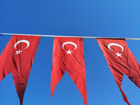 Turkish Flag, Flag, Turkish, Turkey, Red, White, Month
