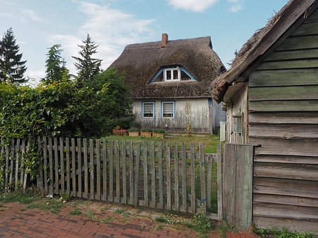 Wieck, Darss, Darß, Reed, Thatched Roof, Thatched Roofs