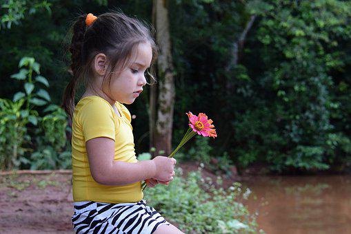 Flower, Child, Girl, Childhood, Portrait