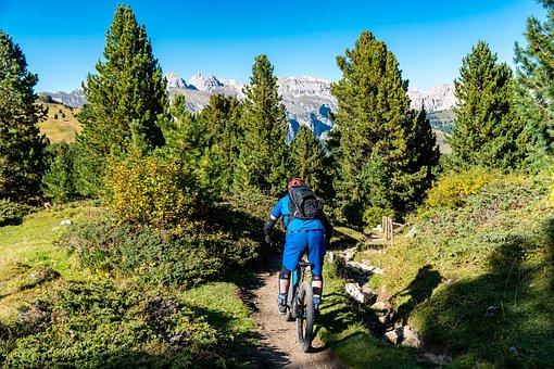 Mountain Bike, Dolomites, Bicycle Tour, Bike, Tour