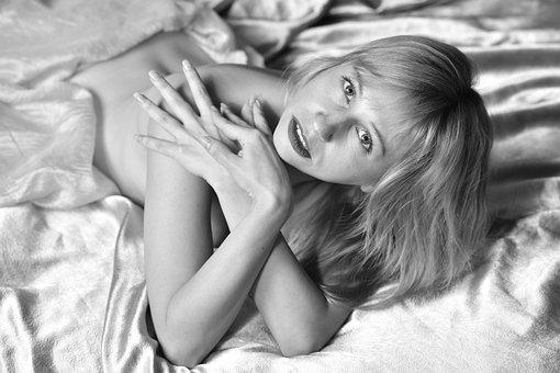 Portrait, Bed, Morning, Awakening, Woke Up, Girl, Woman