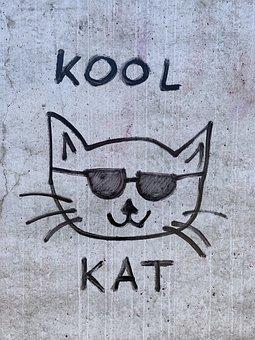 Street Art, Berlin, Graffiti, Cat, Cool Cat