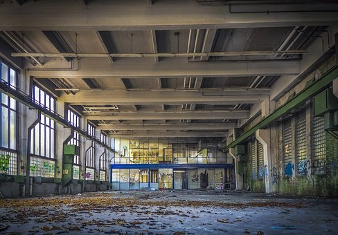 Lost Places, Hall, Pforphoto, Factory, Abandoned, Ruin