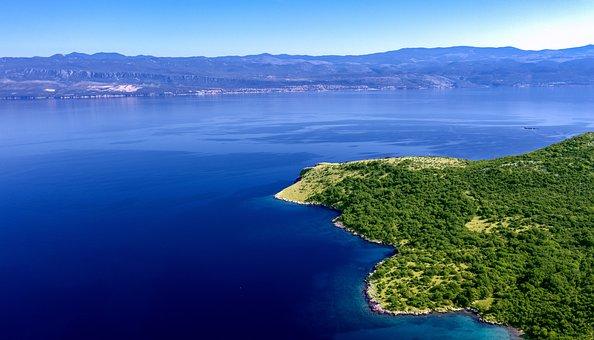Coast, Water, Summer, Blue, Day, Adriatic, Krk, Rocks