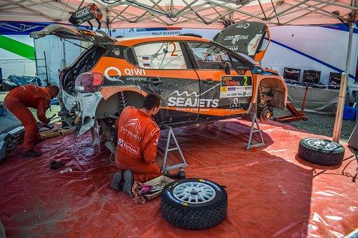 Rally, Service, Car, Repair, Motor, Sport, Mechanic