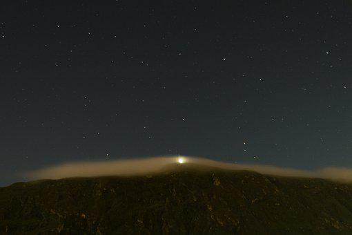 Sky, Moon, Cloud, Serra, Mountain, Night, Clouds