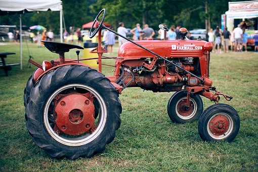 Old Tractor, Farm, Animal, Agriculture, Tractor, Old