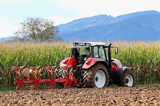 Plow, Tractor, Arable Land, Earth, Agriculture, Plough