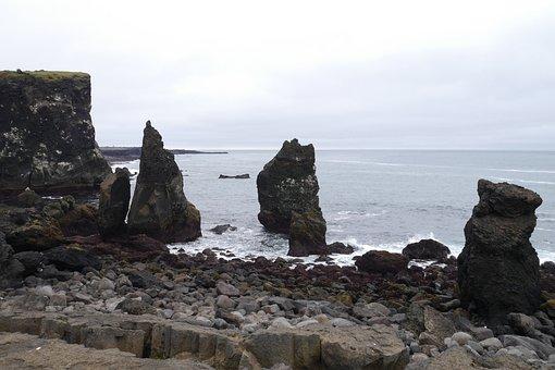 Coast, Rocks, Sea, Water, Nature, The Sky, Reef, Waves