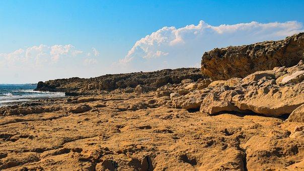 Rocky Coast, Rock, Sea, Landscape, Nature, Sky, Clouds