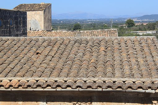 Tile, Roof, Sky, Tiles, Housetop, Architecture, Texture