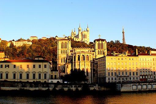 Lyon, Wharf, City, Saône, Sky