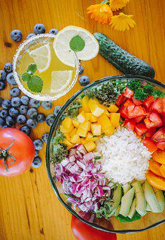 Eating, Health, Rice, Tomatoes, Onion, Lemon
