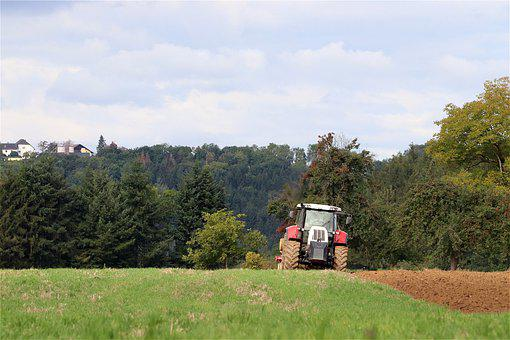 Tractor, Plow, Field, Arable, Agriculture, Arable Land