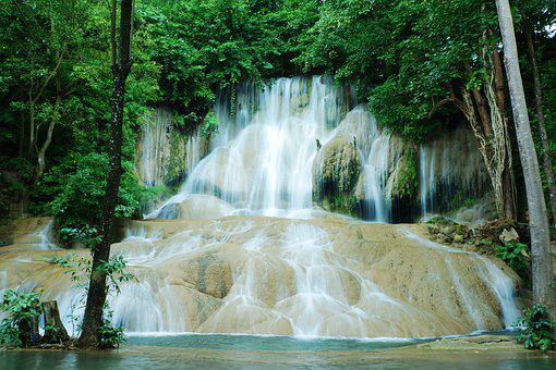 Waterfall, Green, Nature, Water, River, Jungle