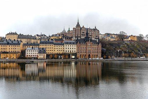 City, Lake, Landscape, Water, Architecture, Travel