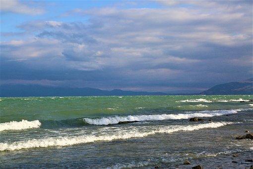 Lake, Water, Wave, Nature, Landscape, Blue, Sky